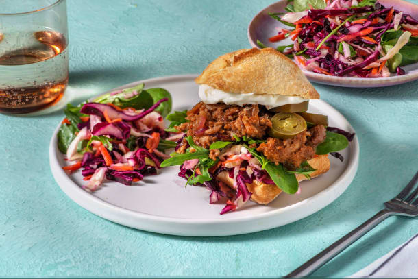 Sandwich au porc effiloché & aïoli