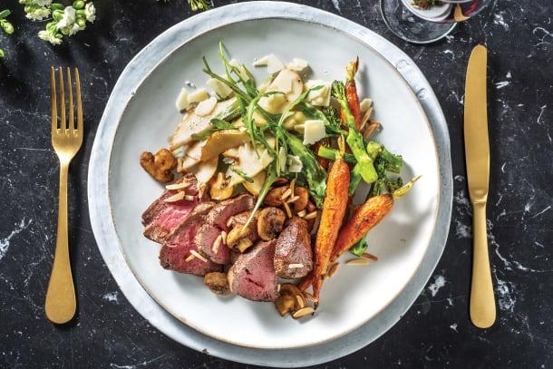 Seared Fillet Steak & Balsamic Mushrooms