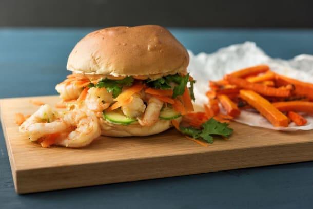 Shrimp Banh Mi Burger