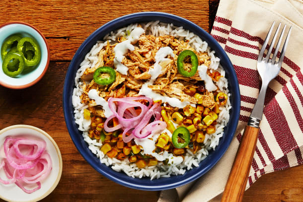 Smokehouse Pulled Chicken Bowls