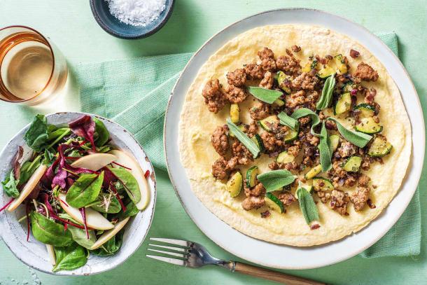 Hälsosamma Recept - Snabb tortillapizza