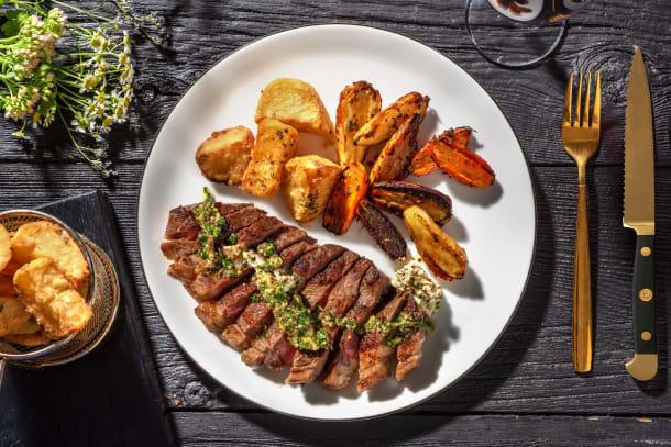 Sirloin Steak and Garlic Butter