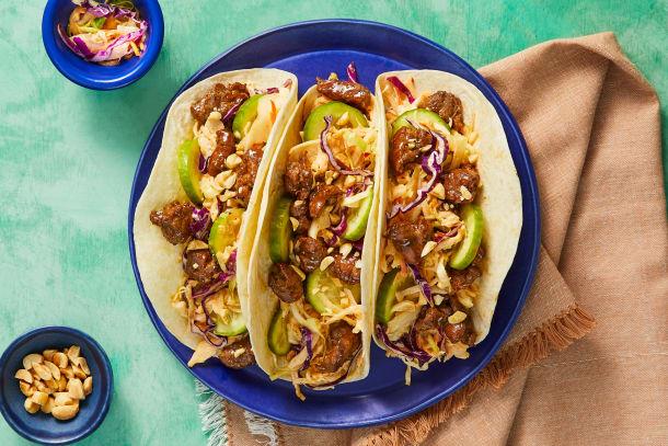 Sweet Soy Glazed Steak Tacos
