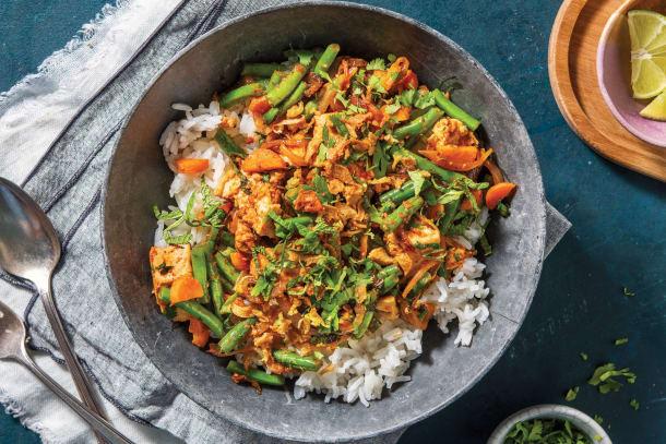 Thai Crumbled Tofu & Green Bean Stir-Fry