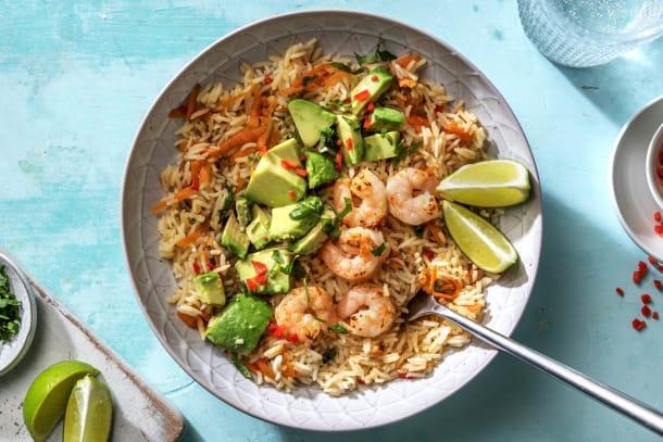 Kalorisnåla måltider - Thai-inspirerad rissallad