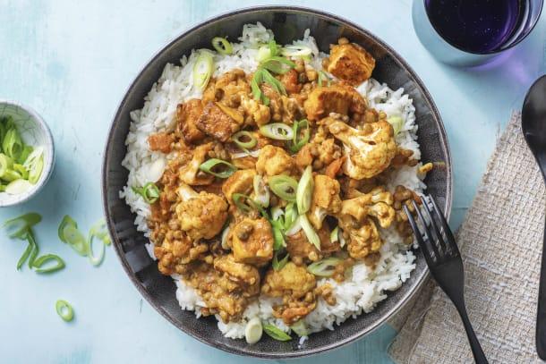 Tikka-Masala-Curry mit Halloumi