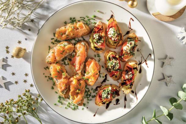 Festive Crostini Two Ways