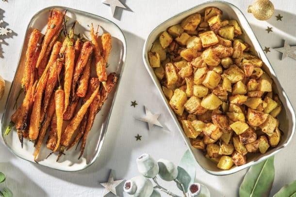 Twice-Cooked Garlic & Rosemary Potatoes