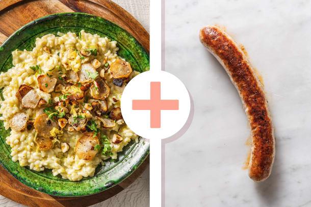 Winterse risotto met aardpeer en hazelnoten