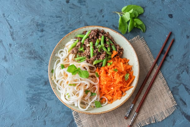 Vietnamese Beef & Sweet Chilli Noodle Bowl