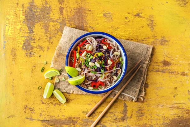 Thai-Spiced Pork and Rice Noodle Stir-Fry