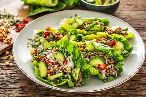 Beef 'Larb' Salad Wraps