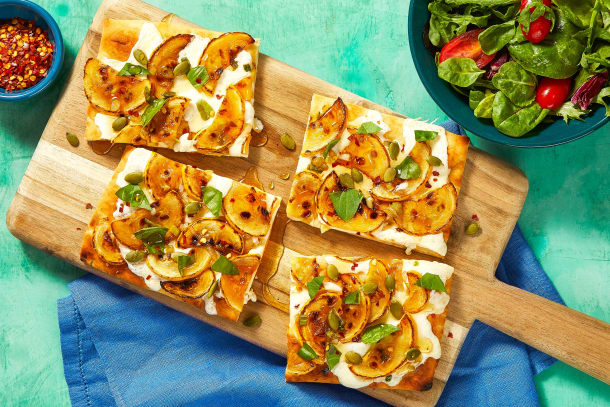 Quick meals - Yellow Squash Flatbreads